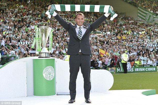 Rodgers' family members, who have been l;ifelong Celtic fans, were invited to Parkhead on Monday