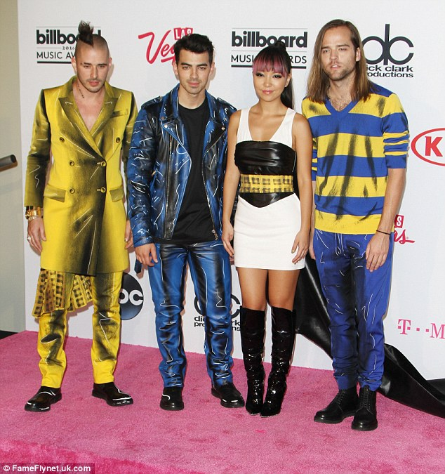 Hitting the carpet: Joe made the comments while appearing with his band DNCE at the 2016 Billboard Music Awards in Las Vegas