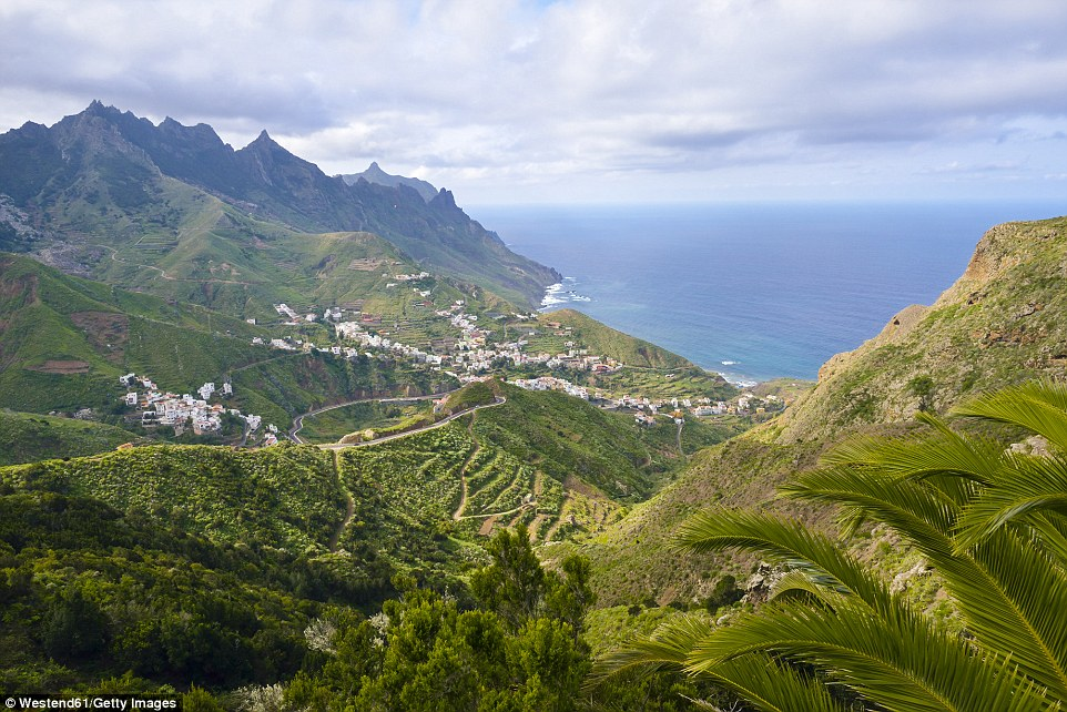 High in the Anaga Mountains in Taganana, guests can see vast expanses of landscape, with speckles ofbright and colourful little villages