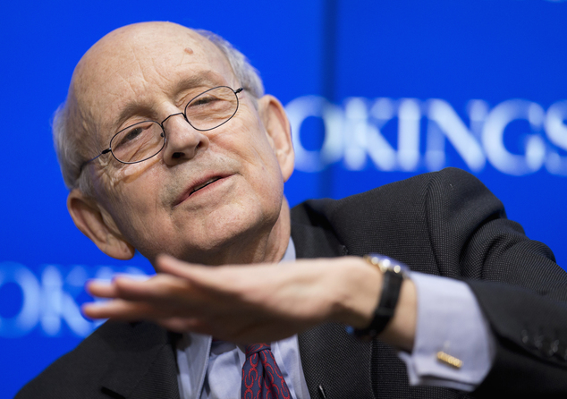 FILE - In this Jan. 21, 2016, file photo, Supreme Court Justice Stephen Breyer speaks at the Brookings Institution in Washington. Breyer says the court has n...