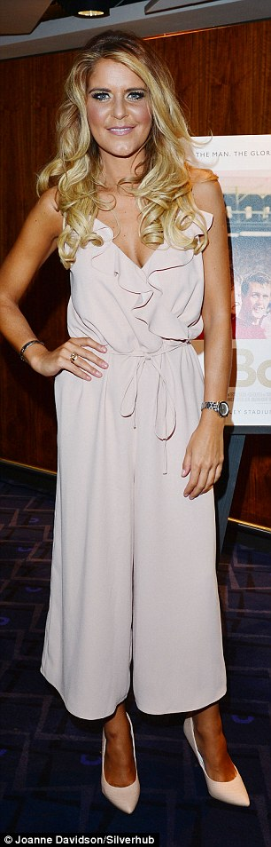 Ex-Emmerdale star Gemma Oaten looks chic in culotte jumpsuit as she shows off a hint of cleavage at Bobby World Premiere