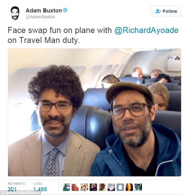 Even celebrities have been getting in on the act, with Richard Ayoade and Adam Buxton swapping their faces