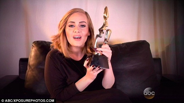 Accepting one of five accolades at the Billboard Music Awards, singer Adele looked stunningly svelte – a contrast to the rather curvier look she sported when she first found fame
