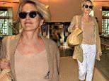 Sharon Stone seen arriving at LAX Airport.\n\nPictured: Sharon Stone\nRef: SPL1289343  230516  \nPicture by: MONEY$HOT-$HAWN/ Splash News\n\nSplash News and Pictures\nLos Angeles: 310-821-2666\nNew York: 212-619-2666\nLondon: 870-934-2666\nphotodesk@splashnews.com\n