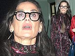 Vogue - 100th anniversary gala dinner after party at Tramp's Private members club in Mayfair. Kate Moss and friends were seen partying into the early hours of the this morning Kate was the last to leave in London, UK.  Pictured: Demi Moore Ref: SPL1289701  230516   Picture by: Splash News  Splash News and Pictures Los Angeles: 310-821-2666 New York: 212-619-2666 London: 870-934-2666 photodesk@splashnews.com