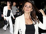"""23.May.2016 - New York ? USA *** STRICTLY AVAILABLE FOR UK AND GERMANY USE ONLY *** New York, NY - Penelope Cruz arrives to a Q&A in Manhattan. The 42-year-old actress is wearing a white pants suit as she waves to cameras. Penelope has been busy today in New York promoting her latest project """"Ma Ma."""" BYLINE MUST READ : AKM-GSI-XPOSURE ***UK CLIENTS - PICTURES CONTAINING CHILDREN PLEASE PIXELATE FACE PRIOR TO PUBLICATION *** *UK CLIENTS MUST CALL PRIOR TO TV OR ONLINE USAGE PLEASE TELEPHONE 0208 344 2007*"""