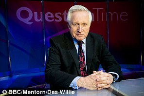 David Dimbleby will moderate separate Question Time shows with David Cameron and Michael Gove