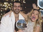 """DANCING WITH THE STARS - """"Episodes 2210A"""" - It's the closest race ever with some of the best dancing celebrities have ever pulled off. Ginger Zee and Valentin Chmerkovskiy, Nyle DiMarco and Peta Murgatroyd, and Paige VanZant and Mark Ballas have one last night of competitive dancing, vying to win the judges' and America's votes to be crowned the """"Dancing with the Stars"""" champion, culminating an incredible season, announced live TUESDAY, MAY 24 (9:00-11:00 p.m. EDT), on the ABC Television Network. (Eric McCandless/ABC via Getty Images)\nNYLE DIMARCO, PETA MURGATROYD, TOM BERGERON"""