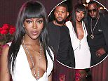 """Last night, Supermodel icon Naomi Campbell celebrated her birthday with a private dinner at PHD Rooftop Lounge at Dream Downtown. Looking stunning in all-white, Campbell was joined with Sean """"Diddy"""" Combs (right off of his Bad Boy reunion tour at Barclay's Center), singer Usher, hip-hop artist Q-Tip, Empire co-star Jussie Smollett, as well as some of her fashion industry friends including Andre Leon Talley, model Maria Borges, socials Peter and Harry Brant, Eric Rutherford and designers Zac Posen and Anna Sui, among many others.  At the end of the dinner, Campbell was presented with a larger-than-life birthday cake that mirrored her new coffee table book set as friends sang """"Happy Birthday"""" to her while DJ David Katz kept the party going with his signature set as guests mingled outside at PHD Rooftop"""