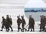 Christopher Nolan directs the war movie Dunkirk on the beaches of Dunkirk in the exact spot where 76 years ago to this week, 100,000 soldiers were evacuated.\nFeaturing: Atmosphere\nWhere: Dunkirk, France\nWhen: 25 May 2016\nCredit: WENN.com
