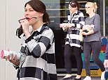 EXC ALL ROUND Very first pics of a happy Emma Willis since she had baby. Spotted shopping in Nth London with her Mum . All images taken on long lens and a long distance away  BYLINE : ISOIMAGES must be used