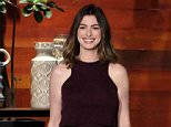 Star of the new film ?Alice Through The Looking Glass?  ANNE HATHAWAY joins ?The Ellen DeGeneres Show? on Tuesday, May 24th and talks to Ellen about her 8-week-old baby boy! Anne also shares with Ellen that she has been to the gym 3 times since she had her son and her experiences working out again and finding a trainer.    Anne Hathaway Is One Strong Mom http://ellentube.com/videos/0-l4ufio1b/  Photo Links: Photo Credit: Michael Rozman / Warner Bros.  https://www.dropbox.com/sh/lvg9ox6mip9txvy/AACjK1YwrKXirGBbmwpKxbWFa?dl=0   Anne On Being A New Mommy& Ellen: Congratulations, she?s a brand new Mommy. Brand new. Like the baby is how old?  Anne: 8 weeks. Today.   Ellen: Today! Happy Birthday to the little baby. He, she?  Anne: He. Jonathan.   Ellen: And he?s backstage?  Anne: He?s Backstage.  Ellen: I wish I would have seen him before I walked out here I would have liked to say hello to him.   Anne: He told me he wants to meet you too so many we can set up a date.   Ellen: We should set