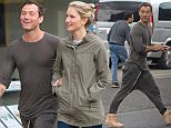 """MUST BYLINE: EROTEME.CO.UK Jude Law is all smiles as he holds hands with girlfriend Phillipa Coan on their way for a movie date. Jude looked very casual in baggy pants and a body hugging t-shirt which showed off his toned body. The two went to watch """"Everybody Wants Some"""" at the Everyman Movie Theatre where Jude showed that he's a true gentleman and opened the door for his date. EXCLUSIVE  May 24, 2016 Job: 160523L1  London, England EROTEME.CO.UK 44 207 431 1598 Ref: 341629"""