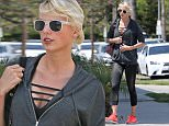 Taylor Swift goes to the gym, an art store and a garden center in Los Angeles, California.  The music star had a busy day going for an hour-long workout followed by a visit to Blick art store in West Hollywood. She was dressed in black leggings and a grey hoodie revealing a striped cut-out top underneath. She wore neon Nike trainers and tied her bleached hair in a ponytail. After picking up some craft supplies, Taylor visited Rolling Greens nursery and picked out a few items.  Perhaps she was preparing a gift for her boyfriend Calvin Harris, who was in a car crash last week. \n\nPictured: Taylor Swift\nRef: SPL1288533  240516  \nPicture by: Splash  News\n\nSplash News and Pictures\nLos Angeles: 310-821-2666\nNew York: 212-619-2666\nLondon: 870-934-2666\nphotodesk@splashnews.com\n