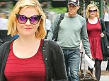 Exclusive... 52071865 Actors Anna Paquin and Stephen Moyer are seen leaving their hotel in New York City, New York on May 24, 2016. Anna was wearing a vibrant red dress with cat eye sunglasses, while Stephen was dressed casually in a sweater and jeans. FameFlynet, Inc - Beverly Hills, CA, USA - +1 (310) 505-9876