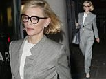 Picture Shows: Cate Blanchett  May 24, 2016    Australian actress Cate Blanchett spotted dining out in Soho, London, UK. Cate, who is playing the role of the villain Hela in the upcoming film 'Thor: Ragnarok', was looking smart in a grey pantsuit.    Non Exclusive  WORLDWIDE RIGHTS    Pictures by : FameFlynet UK � 2016  Tel : +44 (0)20 3551 5049  Email : info@fameflynet.uk.com