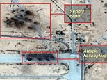 Islamic State 'destroys Syria airbase' used by Russia A strategically significant Syrian airbase, used by Russia, appears to have been almost completely destroyed - according to new satellite imagery exclusively seen by the BBC. The Tiyas facility - near the recently re-captured city of Palmyra in Syria - was repeatedly hit - with the so-called Islamic State presumed to be behind the attack. Four Russia combat helicopters and around 20 supply trucks were destroyed in the bombardment. It is not clear if any people died. US geopolitical intelligence company Stratfor gave the images to BBC. Stratfor analyst Sim Tack explained what they revealed.