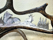 Lone Wolf Antler Carving