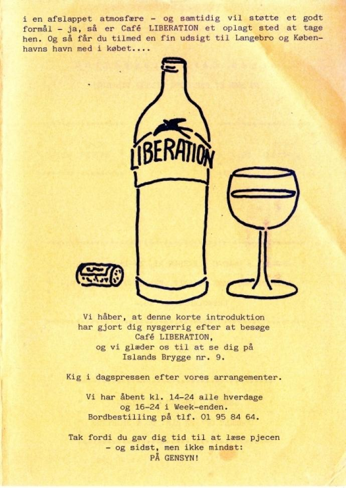 Café Liberation, folder s. 3, ca 1987