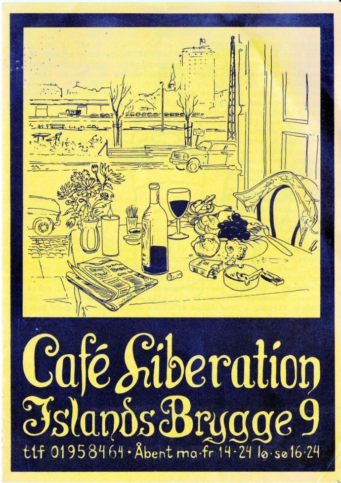 Café Liberation, folder 4 s., ca 1987