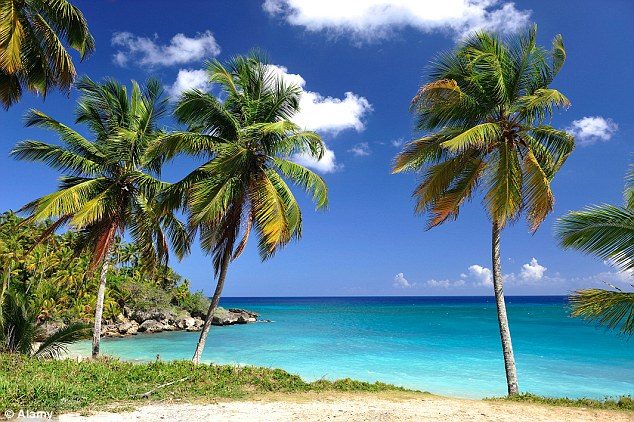 Dream destination: The couple were on holiday in theDominican Republic when Mark fell unwell