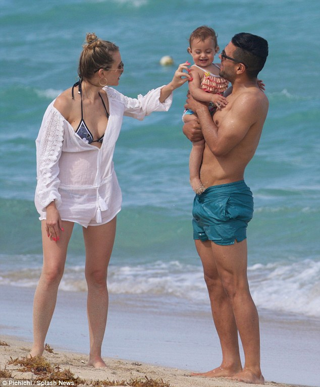 Getting away from it all:He may have had a hugely disappointing season on the pitch, but Chelsea striker Radamel Falcao his shrugging off his sporting woes with a family break in Miami