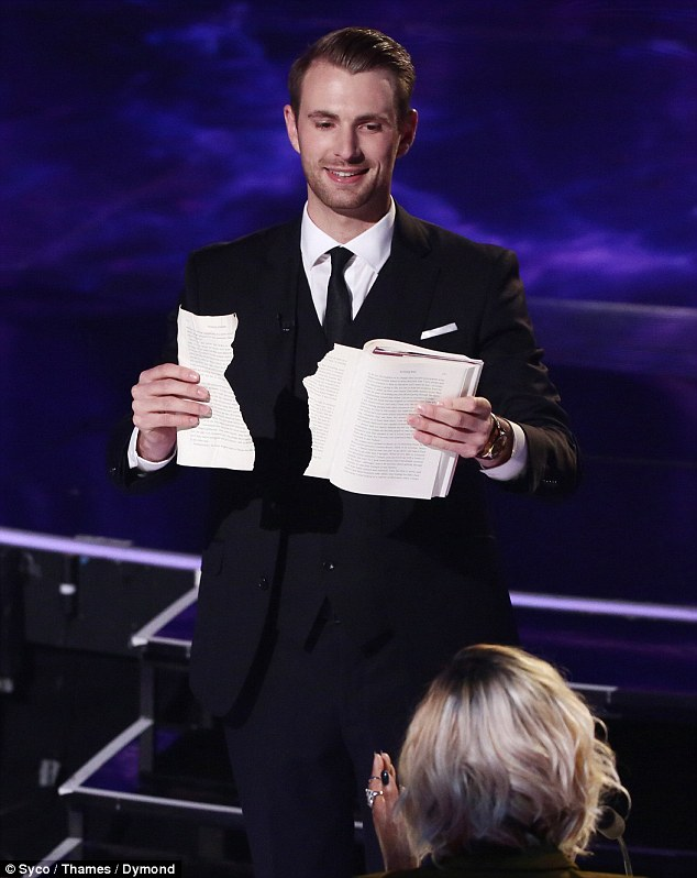 Wowing the judges: Richard Jones has denied accusations he 'stole' a trick from another magician following his semi-final performance on Britain's Got Talent on Tuesday