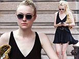 Actress Dakota Fanning seen wearing a black short dress as she is out and about in SoHo, NYC\n\nPictured: Dakota Fanning\nRef: SPL1291764  260516  \nPicture by: Alberto Reyes/Splash News\n\nSplash News and Pictures\nLos Angeles: 310-821-2666\nNew York: 212-619-2666\nLondon: 870-934-2666\nphotodesk@splashnews.com\n