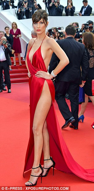 The famous dress:The red dress hit headlines globally when she arrived at the Unknown Girl premiere looking phenomenal due to the slashed split along the entire length of her leg