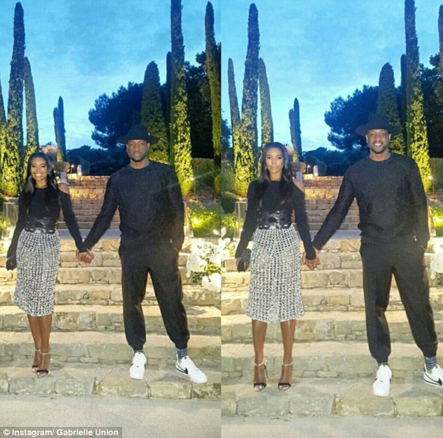 Marital bliss: It would seem the group were having a blast on their double date holiday, with Gabrielle posting a fun snap on her Instagram page as they enjoyed their French summer getaway