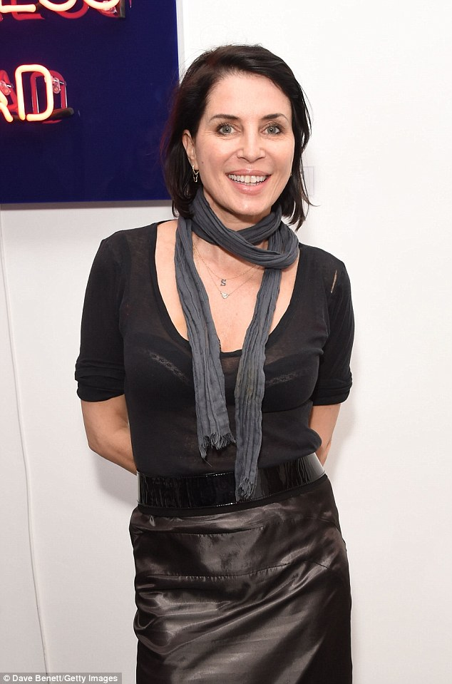 Sexy: Sadie seemed more insistent on making an impact and wore a black leather skirt with a sheer, scoop-neck top, which flaunted her bra