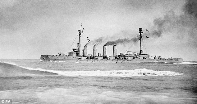 HMS Warrior during the Battle of Jutland in 1916, which is often credited as the turning point in the war