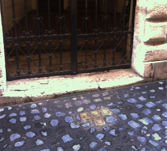 Remembrance Name Plaques Jewish Ghetto