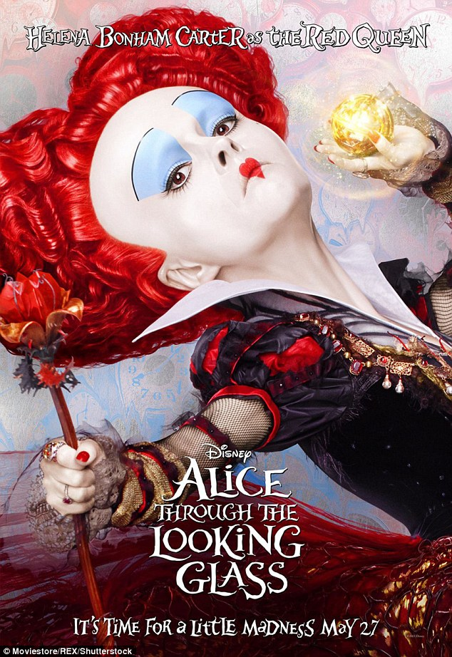 Queen: Helena plays Iracebeth, The Queen of Hearts, in the movie