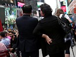 NEW YORK, NY - APRIL 23: Kim Jong Uns maternal aunt and her husband, known in North Korea as Ko Yong Suk and Ri Gang, pose for a portrait in New Yorks Times Square on April 23, 2016. They have been living in the United States since 1998, and run a dry-cleaning store. (Photo by Yana Paskova for The Washington Post via Getty Images)