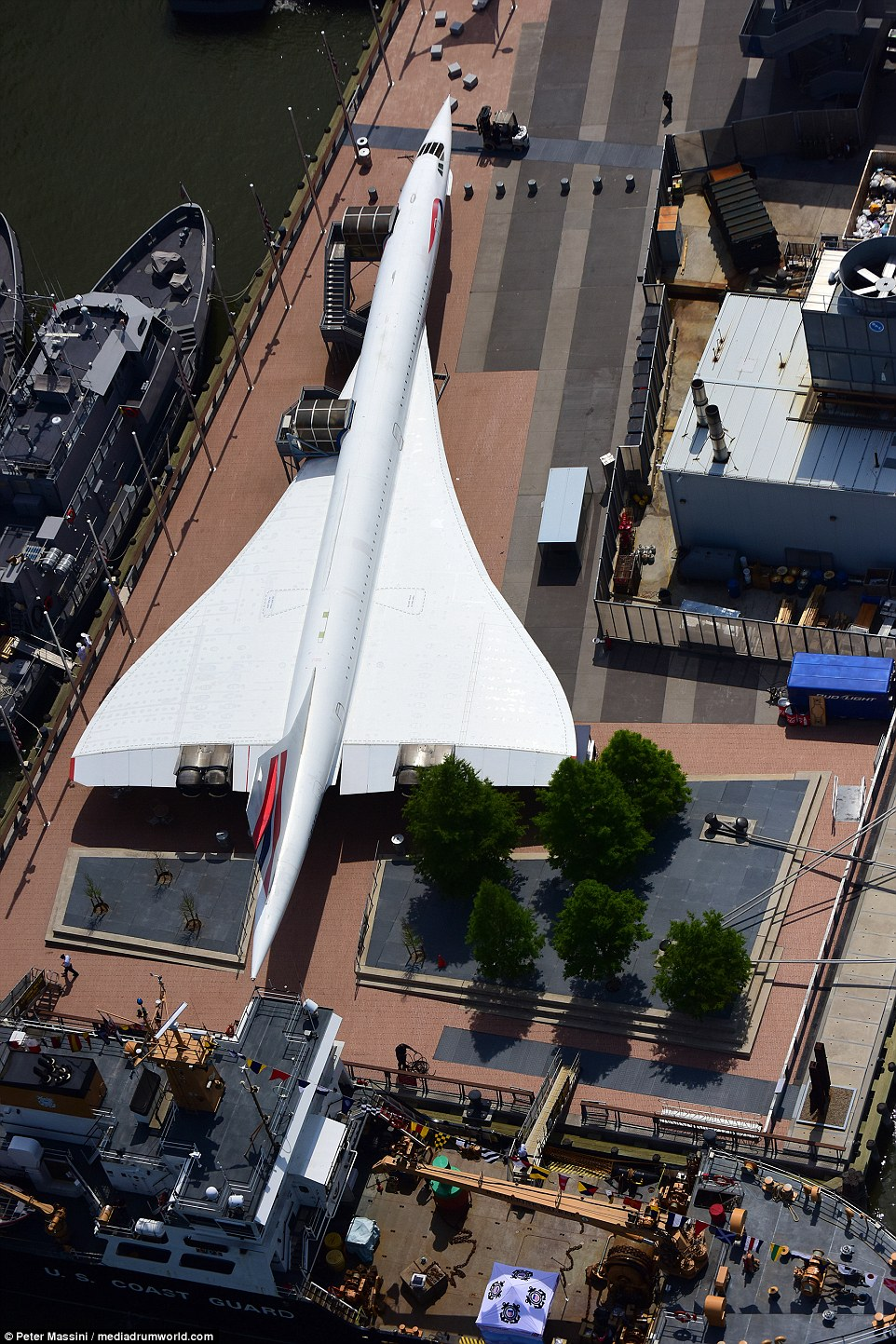 Attack helicopters, vintage aircraft and even Concorde (pictured) are on display in New York as part of the 28th annual Fleet Week
