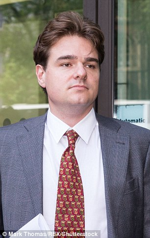 Alexander Economou, 37, (pictured) denies harassing David de Freitas, whose daughter Eleanor killed herself days before she was due to appear in court