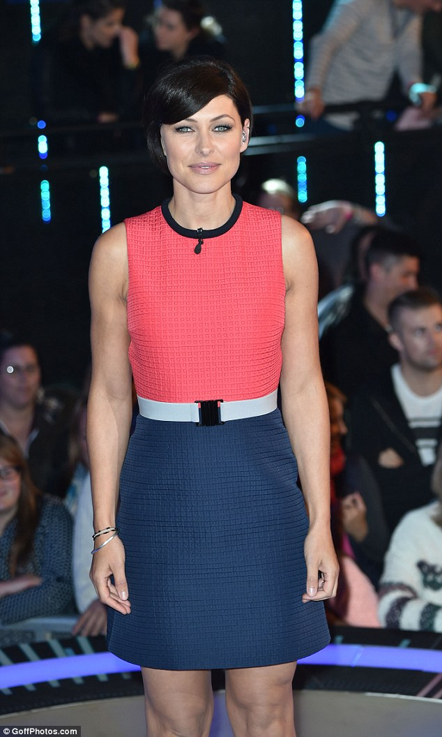Colour blocking queen: Host Emma Willis almost stole the show in this chic shift dress