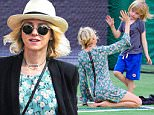 New York, NY - Naomi Watts is spotted with her family spending a sunny day in the Big Apple. The actress dressed Spring ready in a floral long sleeve dress and black blazer. She went barefoot at the park while she spent time with her sons.\n  \nAKM-GSI       May 25, 2016\nTo License These Photos, Please Contact :\nSteve Ginsburg\n(310) 505-8447\n(323) 423-9397\nsteve@akmgsi.com\nsales@akmgsi.com\nor\nMaria Buda\n(917) 242-1505\nmbuda@akmgsi.com\nginsburgspalyinc@gmail.com