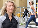 152817, EXCLUSIVE: Julianne Hough channels her inner jedi by rocking Rey's triple buns as she leaves the gym in LA. Los Angeles,Photograph: © Sam Sharma, PacificCoastNews. Los Angeles Office: +1 310.822.0419 UK Office: +44 (0) 20 7421 6000 sales@pacificcoastnews.com FEE MUST BE AGREED PRIOR TO USAGE