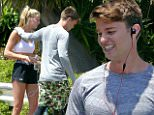 eURN: AD*207737030  Headline: *EXCLUSIVE* Patrick Schwarzenegger and girlfriend Abby Champion train together Caption: *EXCLUSIVE* Los Angeles, CA - Patrick Schwarzenegger and Abby Champion work out together in LA. Abby, 19, is wearing Under Armour shorts and a white sports bra paired with Puma sneakers. Patrick is wearing a long sleeve grey tee and camo shorts paired with compression leggings. After working up a sweat, the two head to lunch with Patrick's mother Maria Shriver for conversation and grub.     AKM-GSI      May 26, 2016 To License These Photos, Please Contact : Steve Ginsburg (310) 505-8447 (323) 423-9397 steve@akmgsi.com sales@akmgsi.com or Maria Buda (917) 242-1505 mbuda@akmgsi.com ginsburgspalyinc@gmail.com Photographer: VAMA  Loaded on 26/05/2016 at 23:42 Copyright:  Provider: AKM-GSI  Properties: RGB JPEG Image (6823K 1027K 6.6:1) 1869w x 1246h at 300 x 300 dpi  Routing: DM News : GeneralFeed (Miscellaneous) DM Showbiz : SHOWBIZ (Miscellaneous) DM Online : On