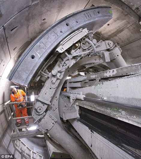 Shaft: The massive project aims to reduce journey times and increase the capital's rail capacity
