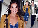 27 May 2016 - London - uk *** EXCLUSIVE ALL ROUND PICTURES *** ** STRICTLY NOT AVAILABLE FOR MAIL ONLINE AND ANY ONLINE SUBSCRIPTION DEALS UNLESS FEE AGREED PRIOR TO USAGE*** One Direction singer Louis Tomlinson one of the most recognised young men in the wordl takes the normal route through departures and queues up with girlfriend Danielle Campbell.  The pair are used the high life and normally use the VIP suites in airports all around the world, but today they mingled with other passengers through the terminal.  The pair were all smiles for the camera and were happy to be phorotgraphed as they carried their luggage to the checkin desks and through security. Louis surprised a lucky fan who stopped him for a selfie. BYLINE MUST READ : XPOSUREPHOTOS.COM ***UK CLIENTS - PICTURES CONTAINING CHILDREN PLEASE PIXELATE FACE PRIOR TO PUBLICATION *** **UK CLIENTS MUST CALL PRIOR TO TV OR ONLINE USAGE PLEASE TELEPHONE 44 208 344 2007**