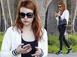 *EXCLUSIVE* West Hollywood, CA - Emma Roberts keeps herself busy on her iPhone after her workout at a West Hollywood gym. \nAKM-GSI         May 27, 2016\nTo License These Photos, Please Contact :\nSteve Ginsburg\n(310) 505-8447\n(323) 423-9397\nsteve@akmgsi.com\nsales@akmgsi.com\nor\nMaria Buda\n(917) 242-1505\nmbuda@akmgsi.com\nginsburgspalyinc@gmail.com