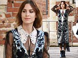26.May.2016 - Venice - ITALY **EXCLUSIVE ALLROUND PICTURES** Model Alexa Chung pictured with Caroline Issa and the canadian fashion designer Erdem Moraliouglu to attend party organized by mytheresa.com at the Hotel Amman in Venice *AVAILABLE FOR UK SALE ONLY* BYLINE MUST READ : CIAOPIX/XPOSUREPHOTOS.COM ***UK CLIENTS - PICTURES CONTAINING CHILDREN PLEASE PIXELATE FACE PRIOR TO PUBLICATION *** **UK CLIENTS MUST CALL PRIOR TO TV OR ONLINE USAGE PLEASE TELEPHONE  44 208 344 2007 ***