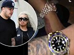 rob kardashian blac chyna watches