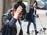(EXCLUSIVE PICTURES ALL ROUND) First pictures of Daisy Lowe since the recent news she as split from Thomas Cohen after dating for five months. The model wearing a black leather jacket, white top, jeans and a pair of black boots arriving home with her two beloved dogs... London, UK. 26/05/2016 ..BYLINE MUST READ : JAMESY/GOTCHA IMAGES....Copyright by ? Gotcha Images Ltd. All rights reserved...Usage of this image is conditional upon the acceptance ..of Gotcha Images Ltd, terms and conditions available at..www.gotchaimages.com