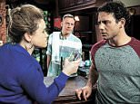 FROM ITV STRICT EMBARGO - No Use Before Tuesday 24 May 2016 Coronation Street - Ep 8919 Friday 3 June 2016 - 2nd Ep Jason Grimshaw [RYAN THOMAS] enters the pub to find Gemma [DOLLY ROSE CAMPBELL] looking miserable. But when he approaches, she furiously accuses him of murder and throws her drink over him.  Picture contact: david.crook@itv.com on 0161 952 6214 Photographer - Andrew Boyce This photograph is (C) ITV Plc and can only be reproduced for editorial purposes directly in connection with the programme or event mentioned above, or ITV plc. Once made available by ITV plc Picture Desk, this photograph can be reproduced once only up until the transmission [TX] date and no reproduction fee will be charged. Any subsequent usage may incur a fee. This photograph must not be manipulated [excluding basic cropping] in a manner which alters the visual appearance of the person photographed deemed detrimental or inappropriate by ITV plc Picture Desk. This photograph must not be syndicated to a