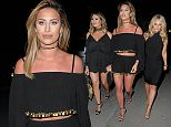 Ferne McCann, Danielle Armstrong and Jessica Wright arriving at Cavalli night hot spot in Puerto Banus in Marbella on the Costa Del Sol in Spain.\\n\\n26/05/2016\\n\\n***EXCLUSIVE ALL ROUND***