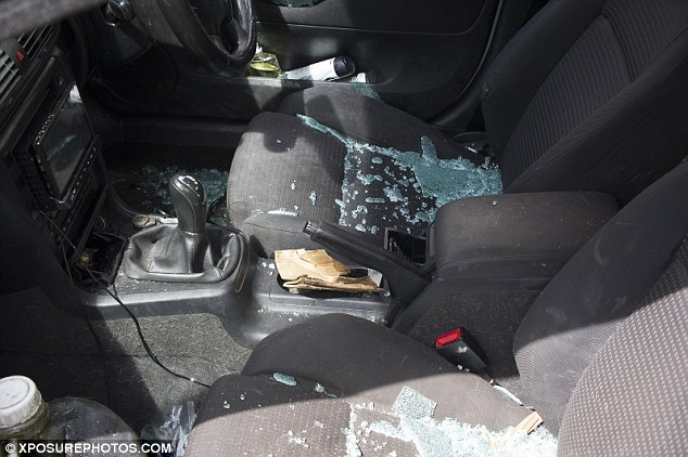 The contents of a car after police shut off large parts of South Bank in London today